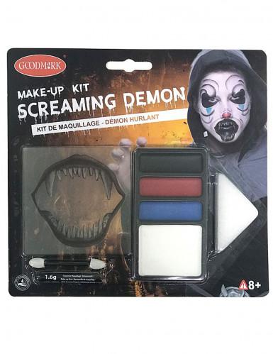 Kit maquillage démon hurlant Halloween