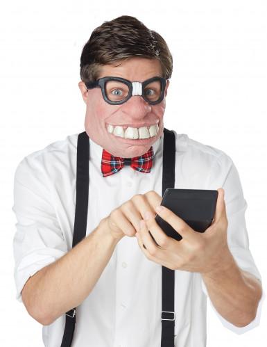 Demi-masque geek adulte