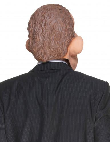 Masque humoristique en latex présentateur télé adulte-1
