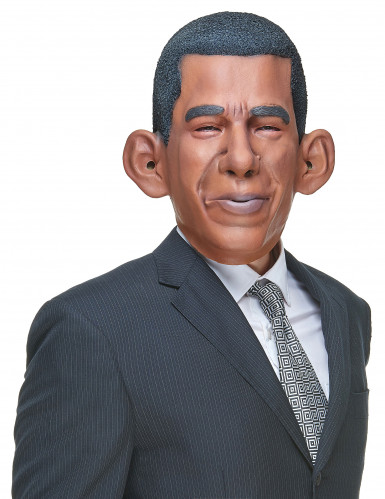 Masque humoristique en latex Barack adulte