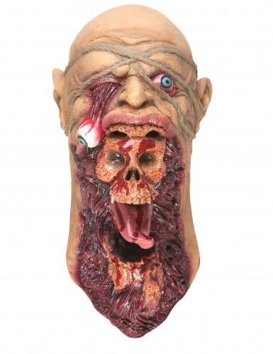 Masque latex zombie dévoreur adulte-2