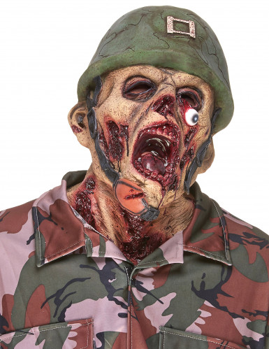 Masque latex soldat zombie adulte