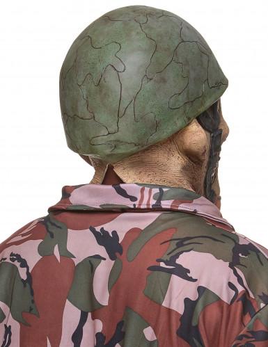 Masque latex soldat zombie adulte-1