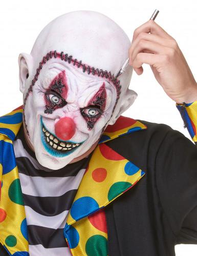Masque latex clown crâne recousu adulte