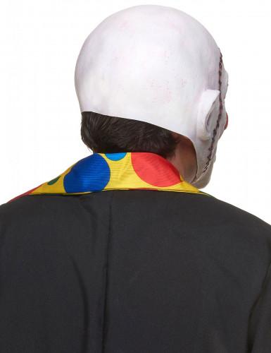 Masque latex clown crâne recousu adulte-1