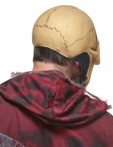 Masque latex crâne effrayant adulte-1