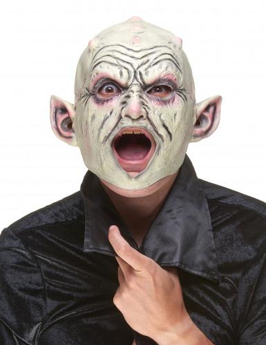 Masque latex gnome à pustules adulte-1
