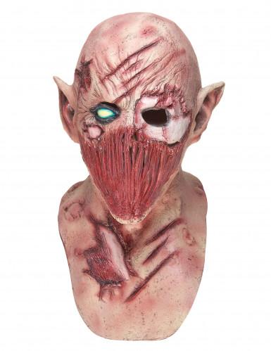 Masque latex démon hurleur adulte-2
