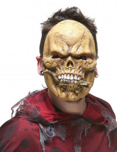 Masque latex squelette mangeur de reptiles adulte-1