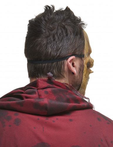 Masque latex squelette mangeur de reptiles adulte-2