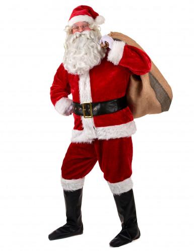 Déguisement complet père Noël Luxe adulte-1