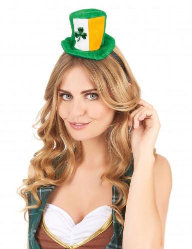 Serre-tête mini chapeau Ireland avec trêfle adulte-1