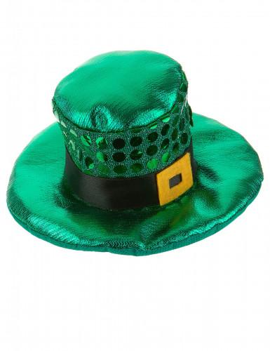 Mini chapeau à boucle et sequins Saint Patrick adulte-1