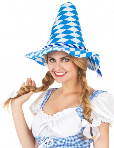 Chapeau Bavarois bleu et blanc adulte-1