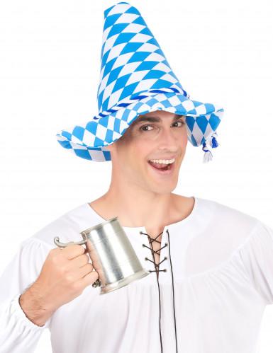 Chapeau Bavarois bleu et blanc adulte-2