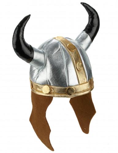 Casque viking métallique adulte