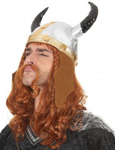 Casque viking métallique adulte-1