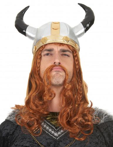 Casque viking métallique adulte-2