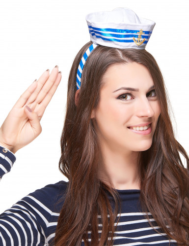 Serre-tête mini chapeau marin adulte