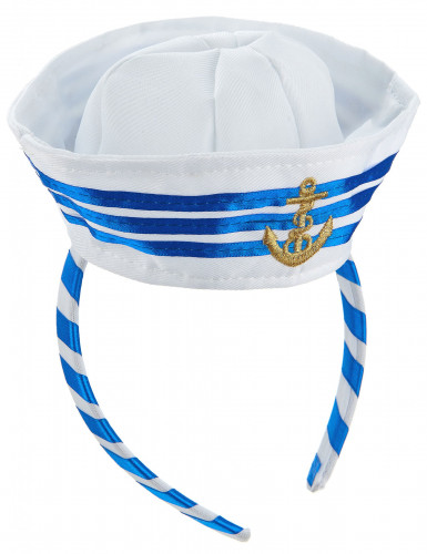 Serre-tête mini chapeau marin adulte-1