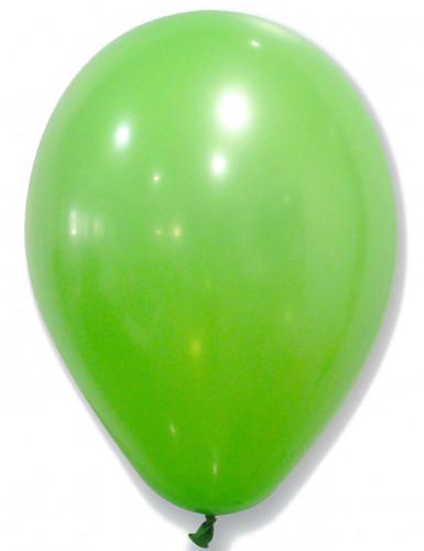 50 Ballons en latex verts 30 cm