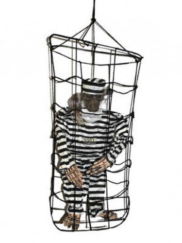 Décoration à suspendre prisonnier en cage 1 m Halloween