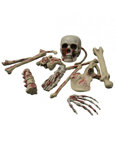 Décoration squelette ensanglanté Halloween