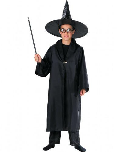 Cape sorcier magique noire enfant