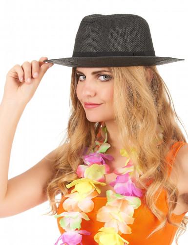 Chapeau Panama luxe gris adulte-1