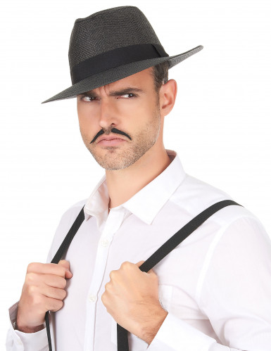 Chapeau Panama luxe gris adulte-2