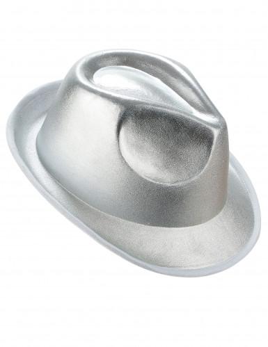 Chapeau borsalino argenté adulte