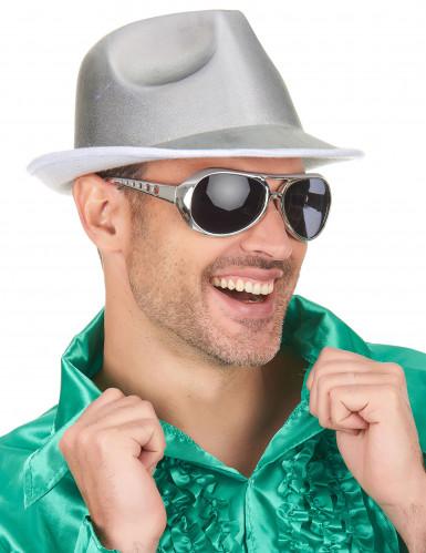 Chapeau borsalino argenté adulte-2