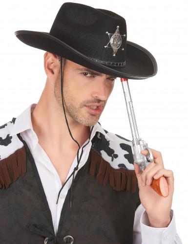 Chapeau Sherif noir adulte-2