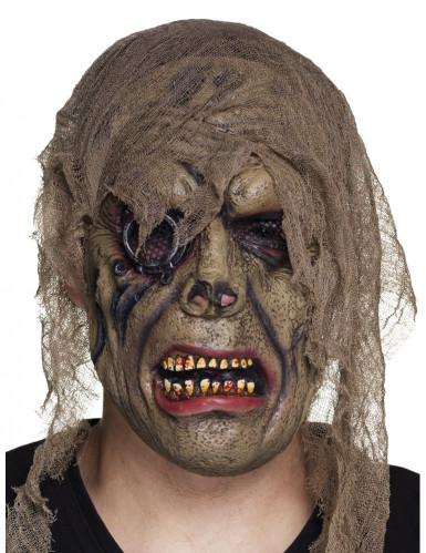 Masque latex zombie pirate adulte
