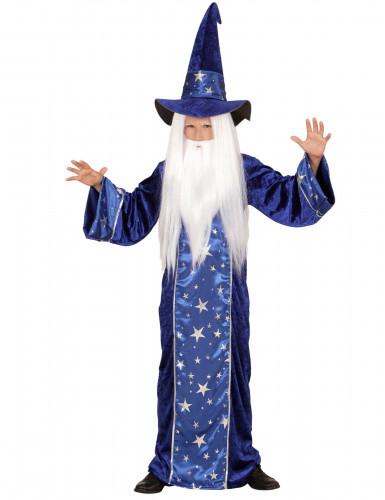 Déguisement magicien étoilé bleu enfant
