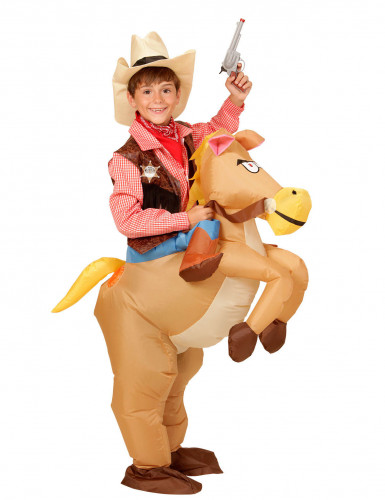 Déguisement cheval de l'ouest gonflable enfant