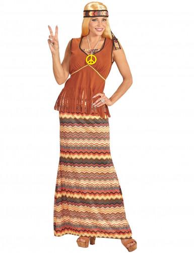 Déguisement robe hippie longue femme