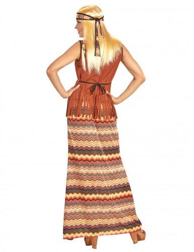 Déguisement robe hippie longue femme-1