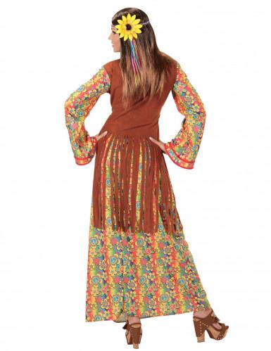Déguisement robe longue hippie à franges femme-1
