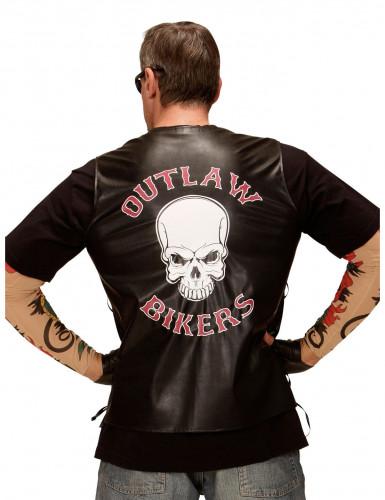 Gilet biker adulte-1