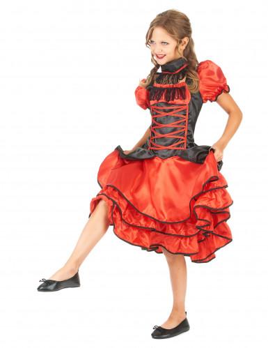 Déguisement cabaret rouge et noir fille-1