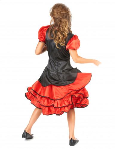 Déguisement cabaret rouge et noir fille-2