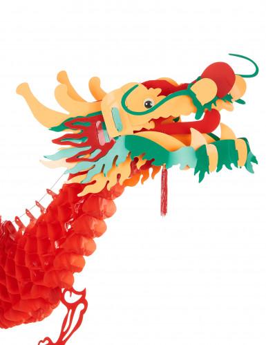 Décoration dragon rouge 2.5 m Nouvel an chinois-1