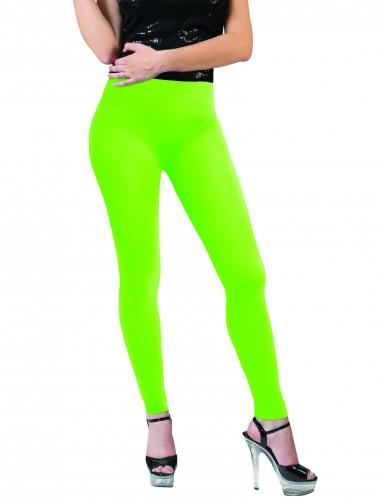 Legging vert fluo adulte