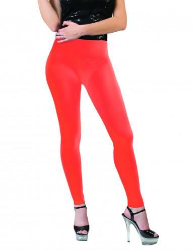 Legging orange fluo adulte