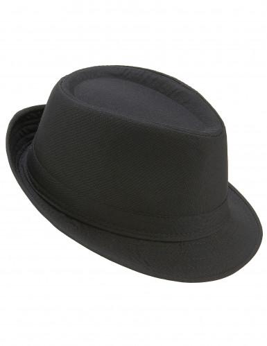 Chapeau borsalino noir luxe adulte