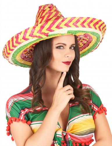 Sombrero Mexicain tutti frutti adulte-2