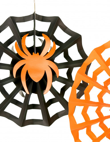3 Suspensions rosaces araignées Halloween-1