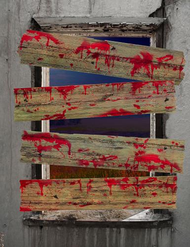 Décorations barricades de zombie-1