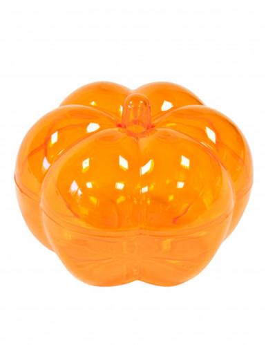Boîte en plastique forme citrouille orange 5 x 7 cm